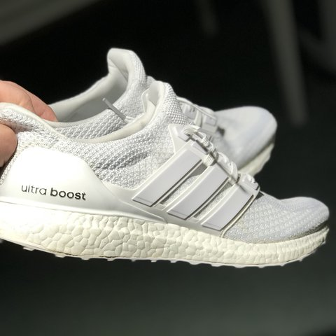 5f9ecfd48c1 Adidas Ultra Boost 2.0 Triple White Size UK 11 Condition box - Depop