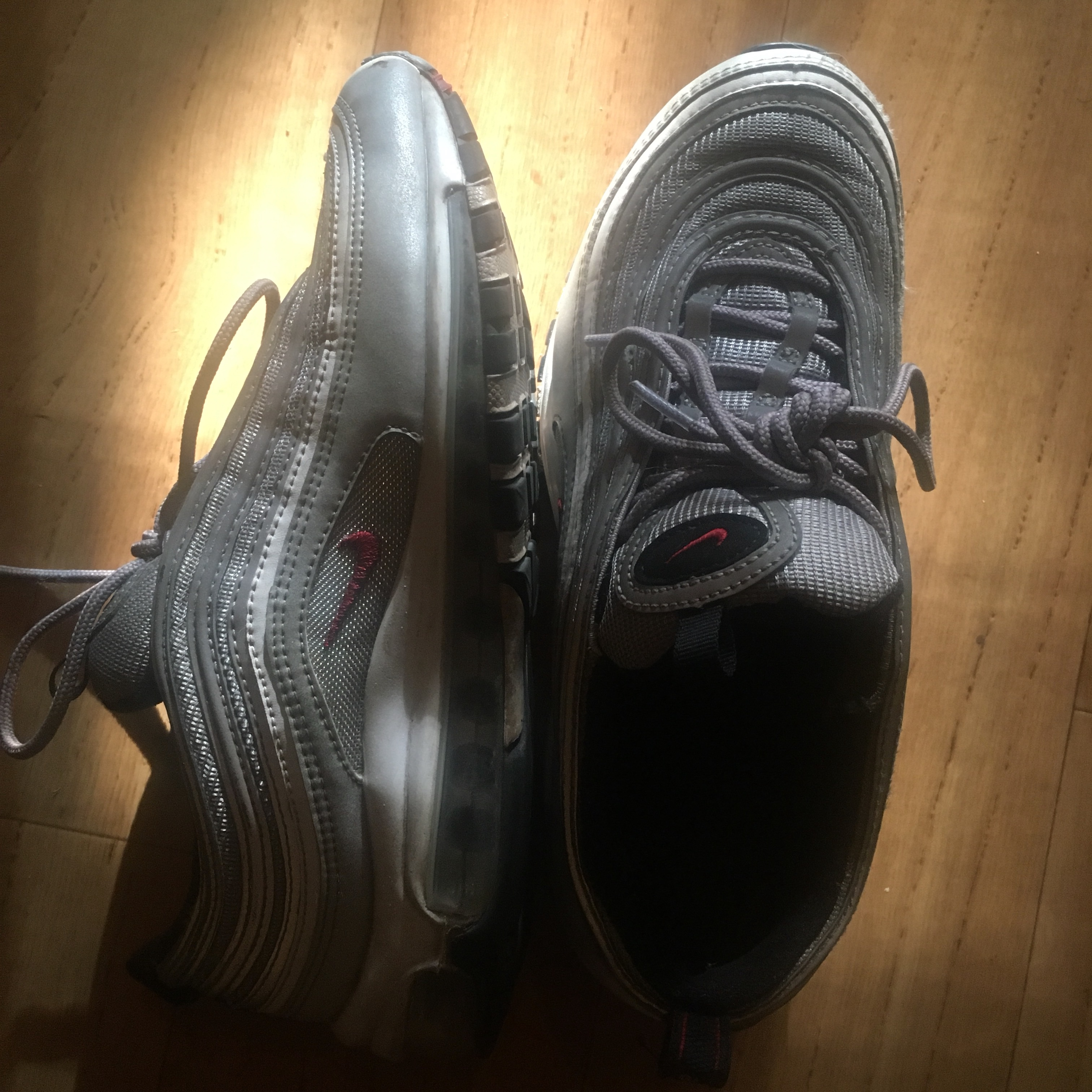 UK Size 5.5 Nike Air Max 97 Ultra with silver, Depop