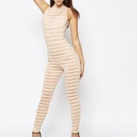 bb111d0713f ASOS nude catsuit   all in one   unitard. Worn once in Quite - Depop