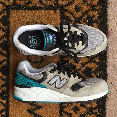 591db91e9400f NEW BALANCE 999 Women's Size 9: adorable teal, black, and a - Depop
