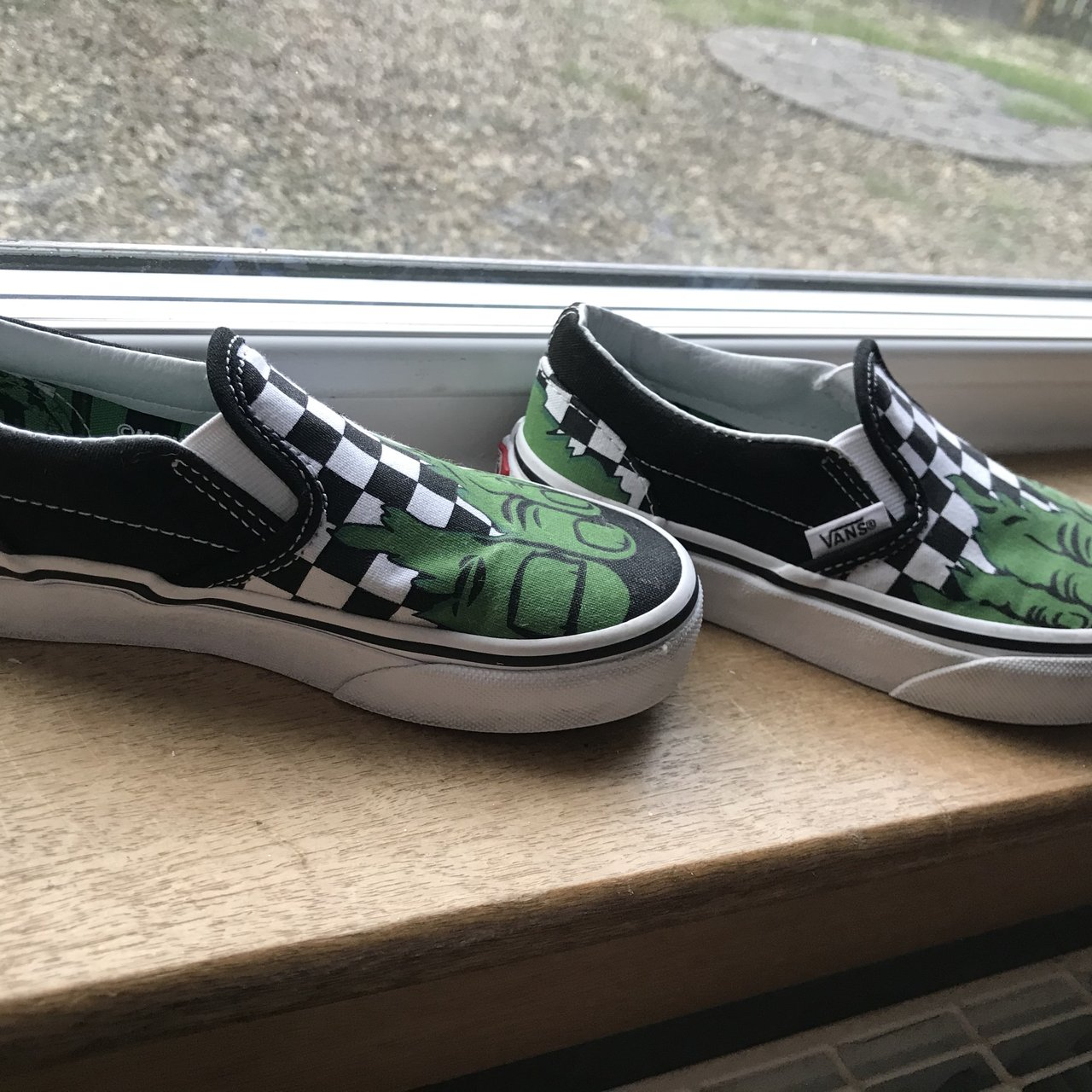 790b0444a0a Boys size 12 hulk vans. Very small made would fit 10 11. for - Depop