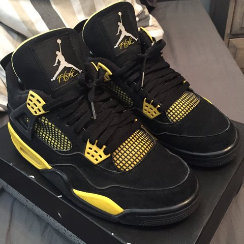 6918de043fdf2c Air Jordan thunder 4s size 7.5. Great condition. Open to - Depop