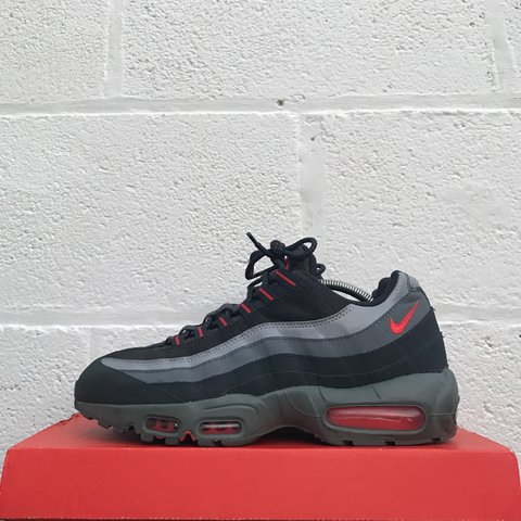 brand new 40999 22ded  liverpoolfootwear. 2 years ago. Liverpool, UK. Nike Air Max 95 - Solar Red Grey  ...