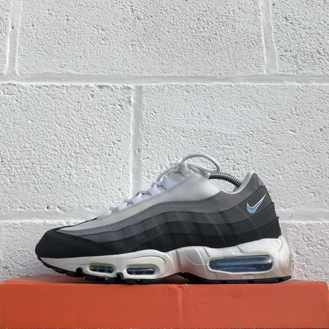 9bb0cf8ed2 @liverpoolfootwear. 2 years ago. Ormskirk, United Kingdom. Nike Air Max 95  - White/Grey/Crystal Blue - Used - UK 8 - £85 - DM for any questions