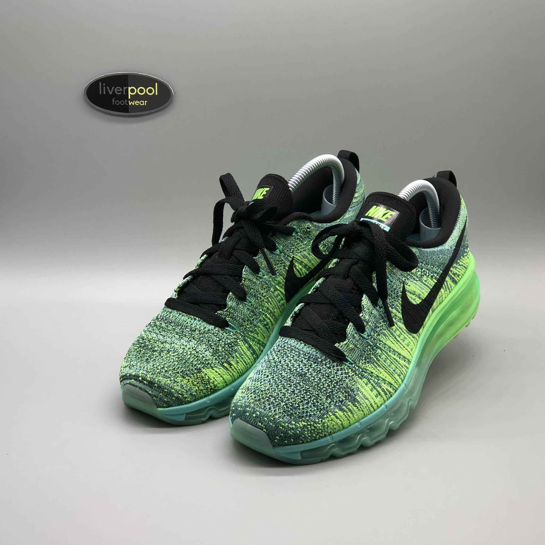Nike Air Max Flyknit Emerald Green Cyan Worn Depop