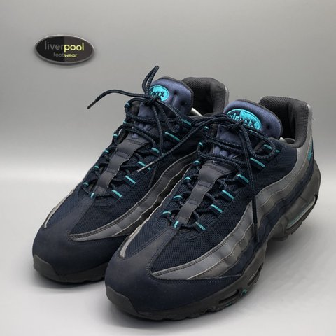 6f77cb452ea531 ... sale nike air max 95 navy turquoise used uk 11 70 dm depop a0fde 70cc9
