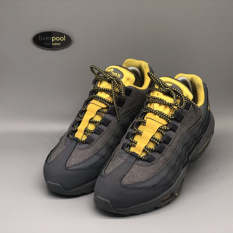 the latest a0d50 160f5  liverpoolfootwear. 8 days ago. Liverpool, United Kingdom. Nike Air Max 95  - Tour Yellow   Grey ...