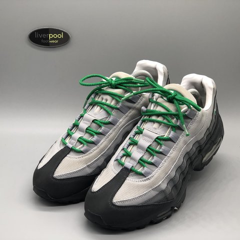 13d67c0d0874 Nike Air Max 95 - Slate Grey   Green - Used - UK 9 - £135 - - Depop