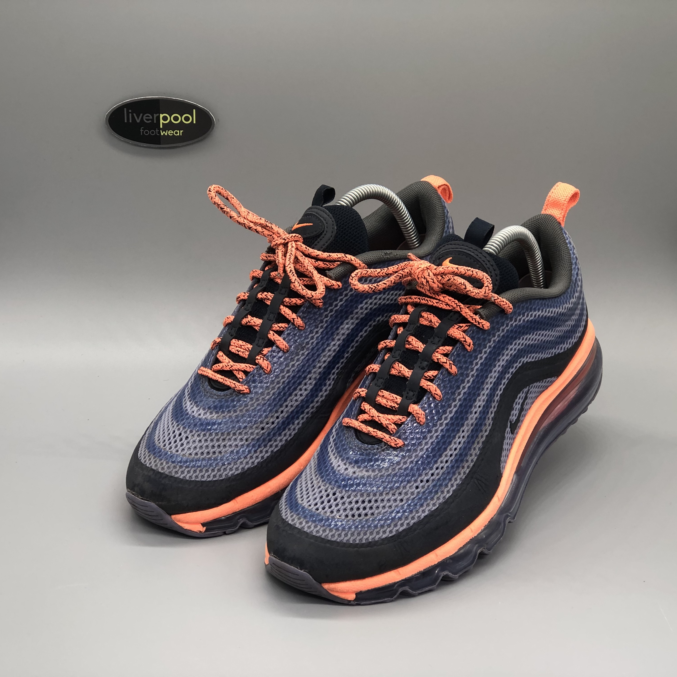 cheap for discount 26197 15de0 Nike Air Max 97 - Midnight Navy / Safety Orange -... - Depop