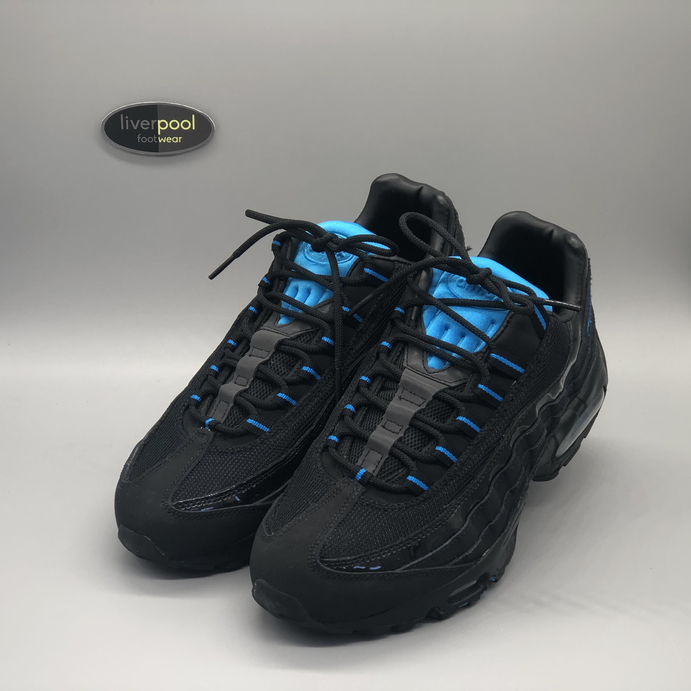 Nike Air Max 95 Black Electric Blue Brand New Depop