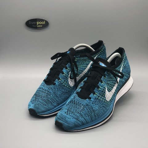 release date: 639f0 d2e48  liverpoolfootwear. yesterday. Liverpool, United Kingdom. Nike Flyknit Racer  - Blue Cactus ...
