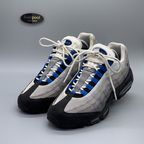 hot sale online 98e9f 1a76c  liverpoolfootwear. 16 days ago. Liverpool, United Kingdom. Nike Air Max 95  - Blue Spark ...
