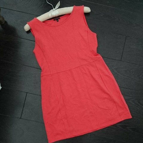 8e72ca6a21 theory  coral  a-line  mini  dress. Marked size L but to - Depop