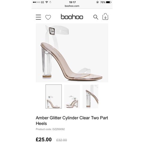 d77c7346db Boohoo clear heels, only worn once so brand new! Can be up - Depop