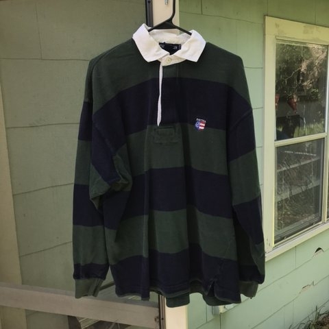 541c7f95 @resaleroy. last month. Austin, United States. Vintage Nautica Long sleeve  Polo / rugby shirt.