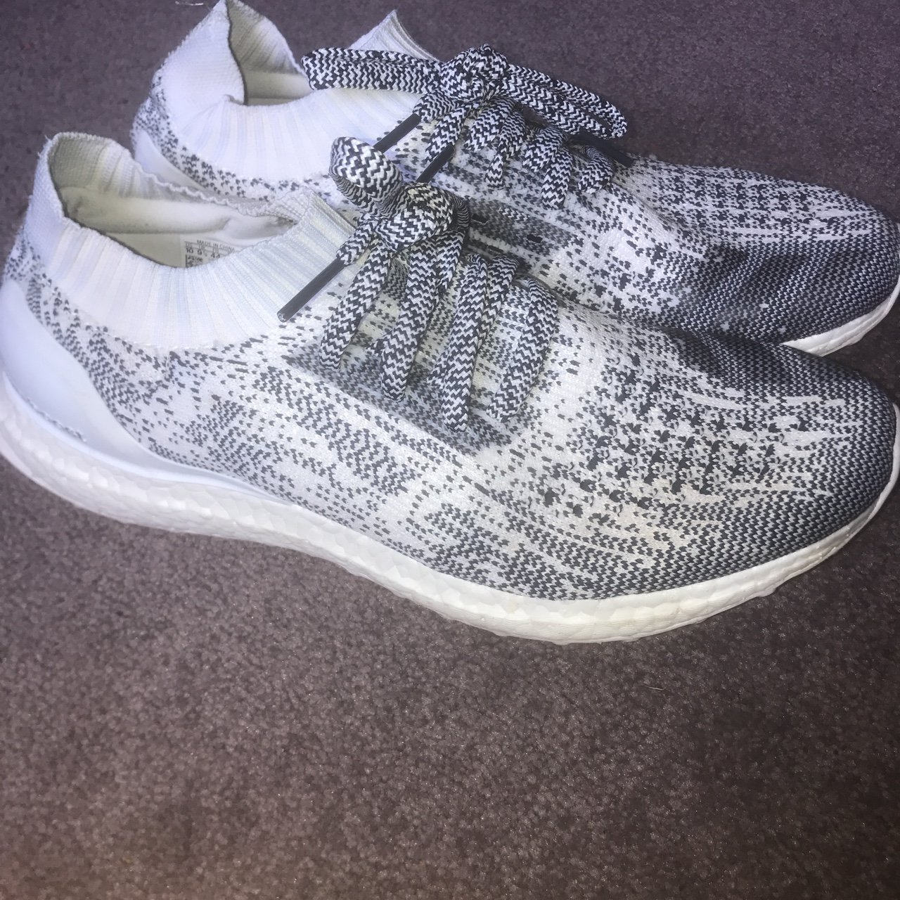 4b5192d4551 Adidas ultra boost uncaged size 9.5 but could fit a 9. 9 10 - Depop