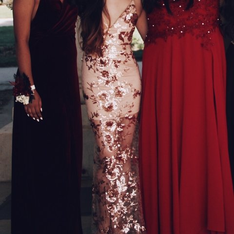 0abbbb40 @youngjaes. 2 months ago. Aurora, United States. fashion nova honor sequin  prom dress rose gold. ...