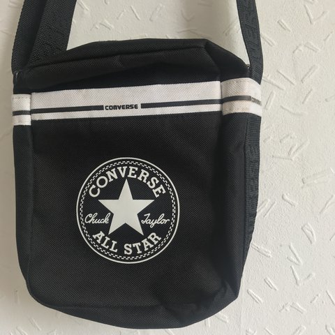 204915f652be Converse shoulder cross body bag -with adjustable strap -in - Depop