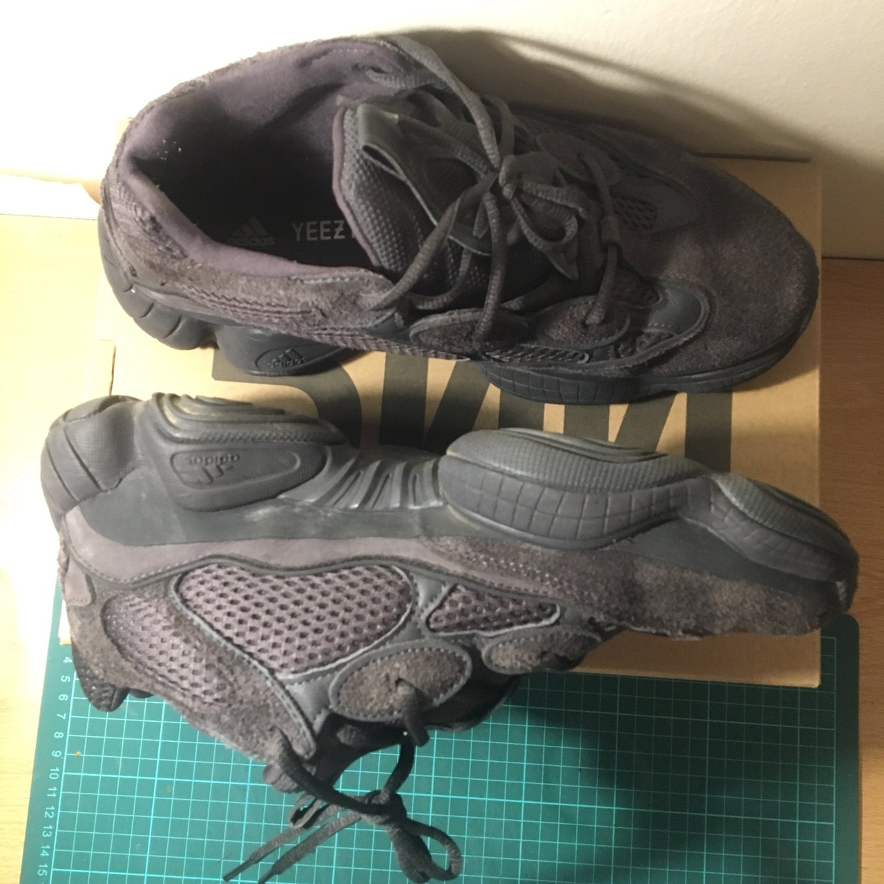fdbd31a03582b Adidas yeezy 500 utility black UK 8.5 Looking for with for - Depop