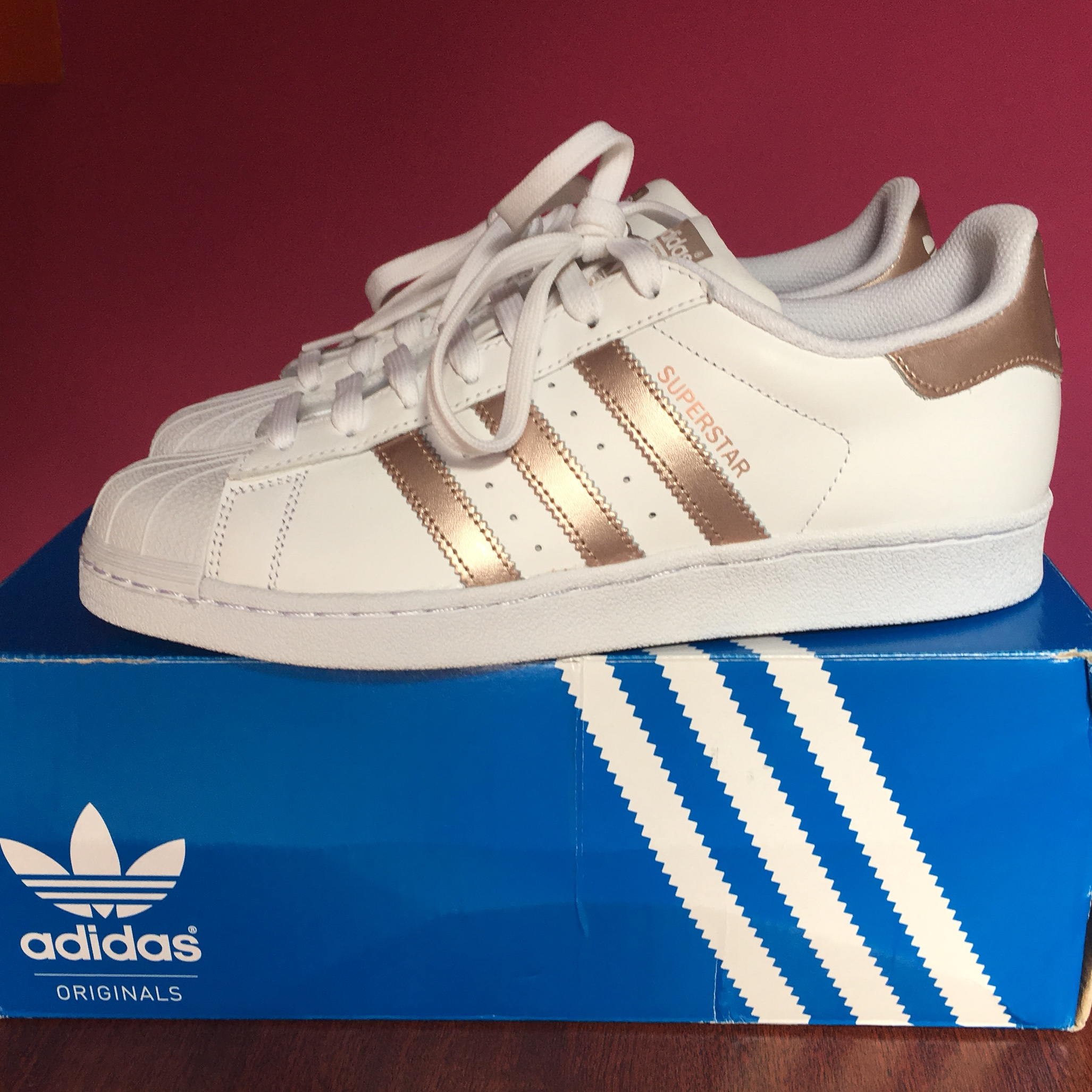 new concept 4ef99 16ea2 SIZE 7 - Adidas Superstar ROSE GOLD. Brand new with ...