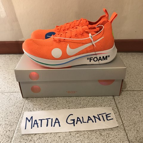 998ef16f922c Nike x Off White Zoom Fly Mercurial - Condition  Ds - Eu - Depop