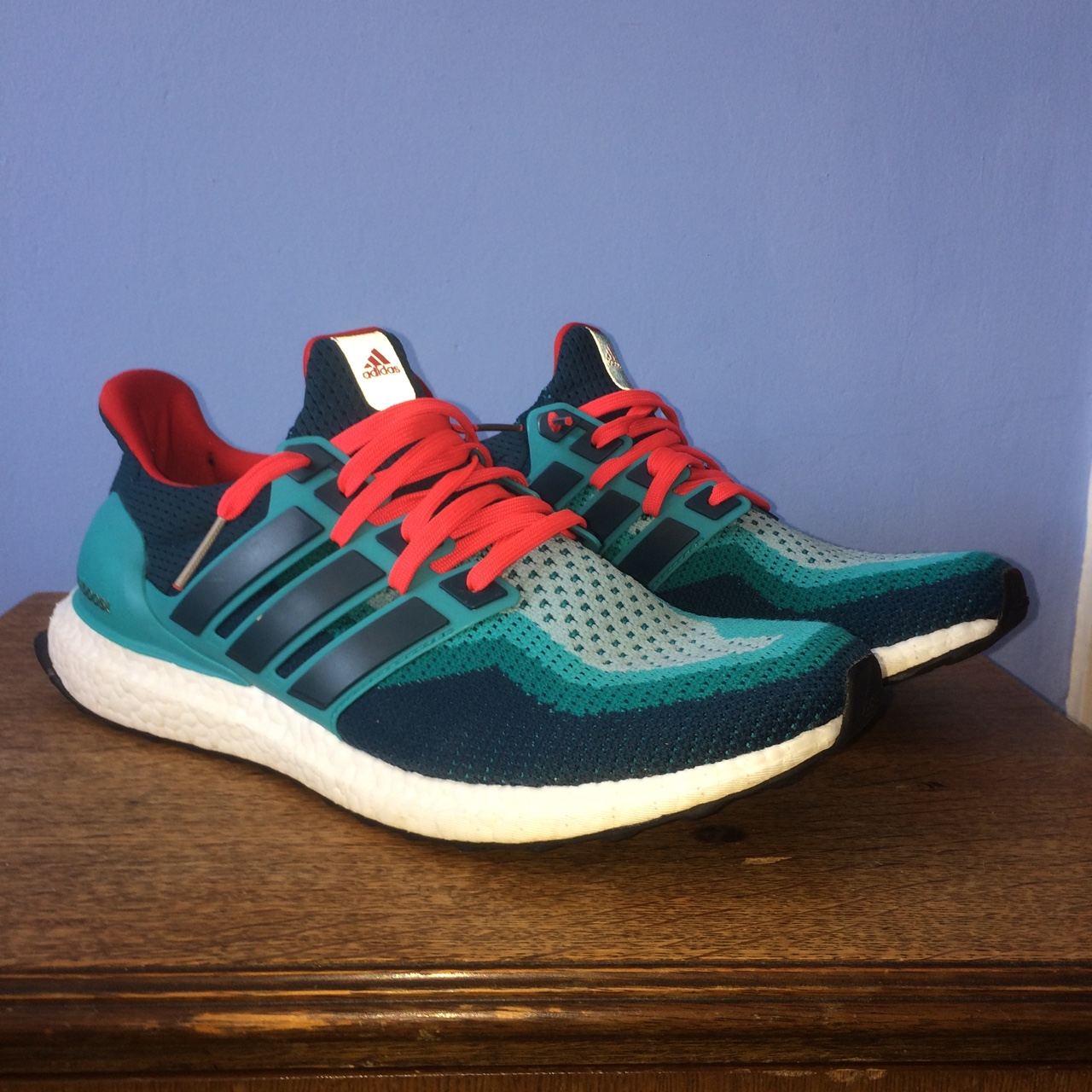 ADIDAS Ultra boost Trainer shoes v 2.0 in Turquoise Depop