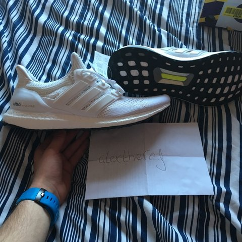 82992fe37 Adidas Ultra Boost in the very rare  Triple White  UK11. new - Depop