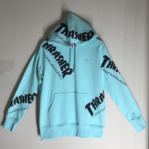 5a67ded88a1cd0 thrasher x huf hoodie size  medium condition  10 10