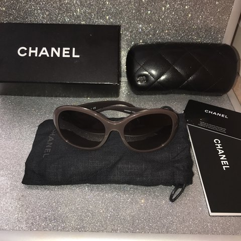 eb4f234461108 Brown frame and lens Chanel sunglasses