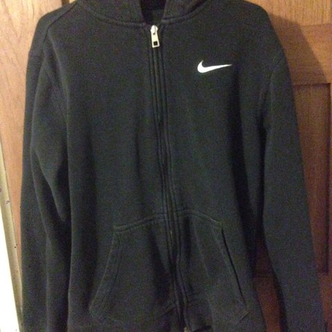 8877c507 @calneary. last year. Chorley, United Kingdom. Nike Fleece Hoodie Zip Up  Black Size 13-15 but fits XS ...