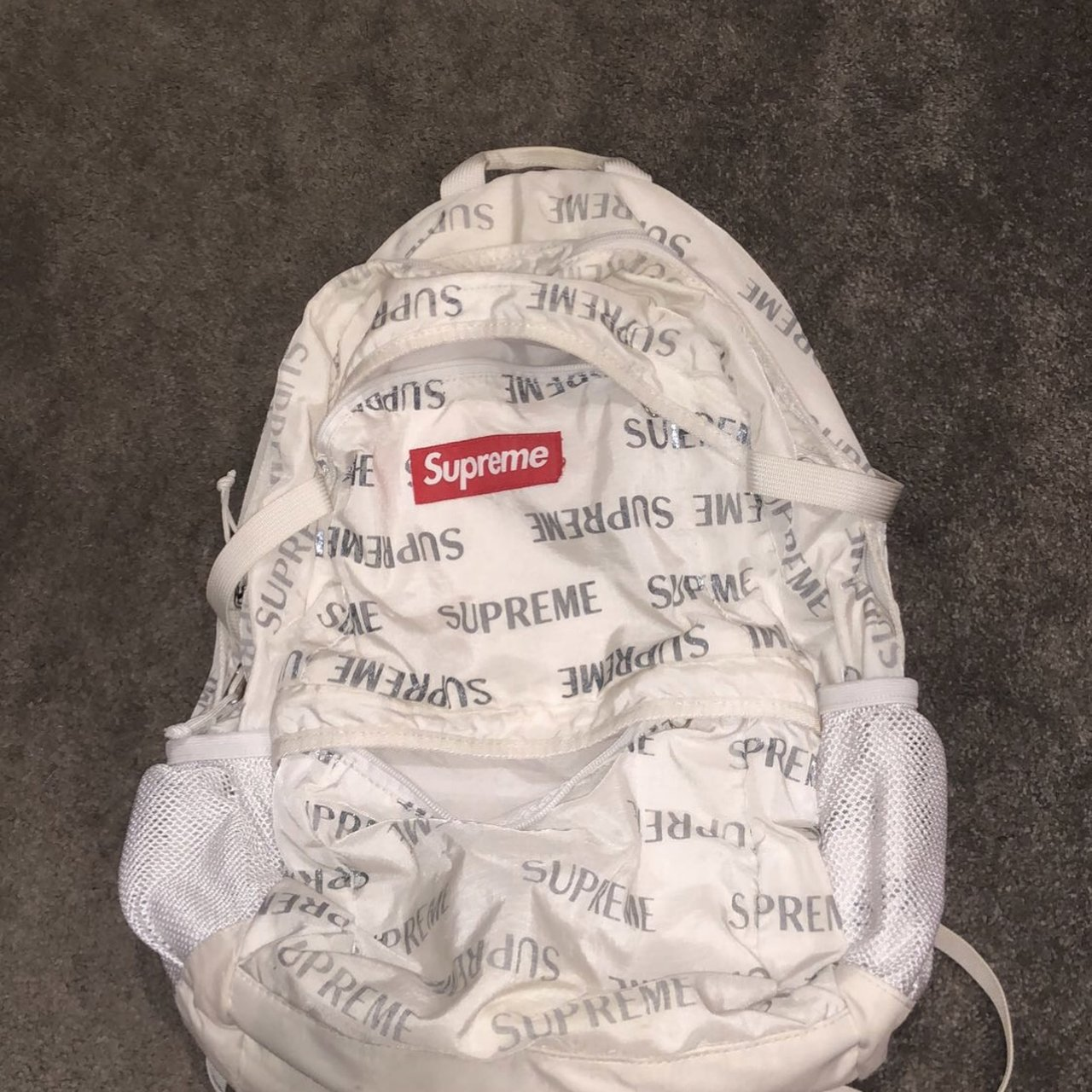 18c8c87d3d9 SOLD  Selling supreme 3m backpack white UNDER RETAIL