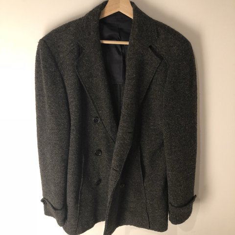 e92f7247 @fiyinkdk. last year. New York, United States. Zara Man Grey Double-breasted  Wool Coat ...