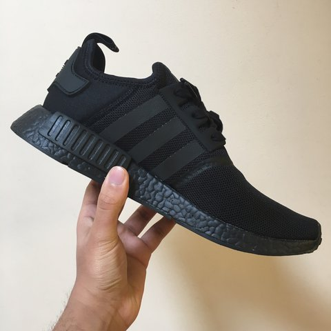7571e0b96 SOLD Adidas NMD R1 Triple Black. Deadstock with tags and box - Depop