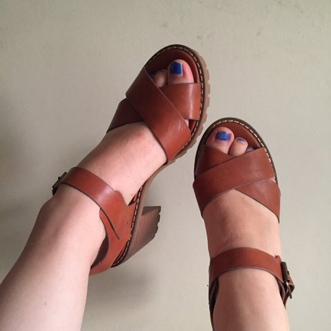 343071c174c0 The most beautiful terracotta   tan coloured low heels   and - Depop
