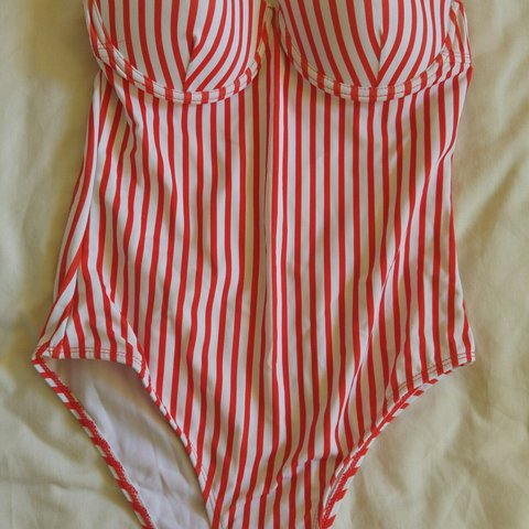 049e4d415f5 @yqueen. 10 months ago. Durham, County Durham, United Kingdom. Zaful red  and white stripe one piece swimsuit.