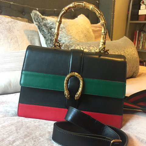 2b308cdeb879 @court929. 2 years ago. Los Angeles, CA, USA. Gucci Dionysus bamboo top  handle bag. Multicolor leather ...