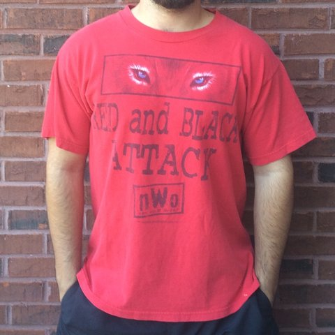 172d4f8a @alvintage. 2 years ago. Dacula, United States. Vintage 1998 WCW nWo  Wolfpac red and black attack ...