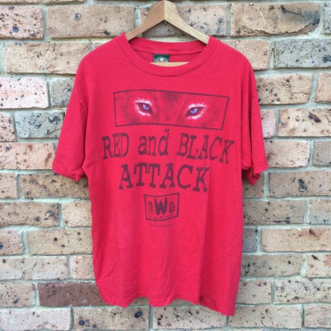 c1025d26 @alvintage. last year. Sydney NSW, Australia. Vintage 1998 WCW nWo Wolfpac  red and black attack ...