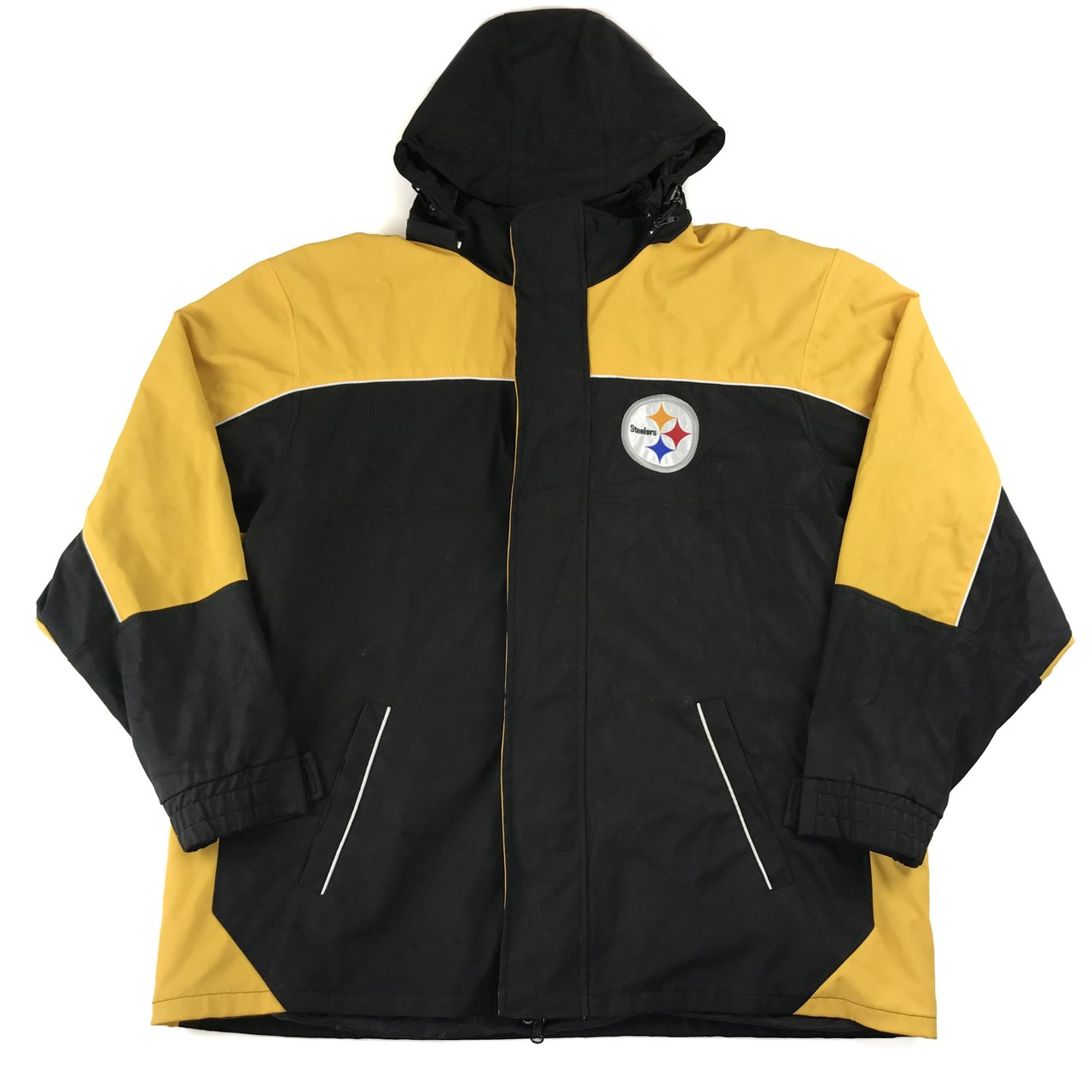 Pittsburgh Steelers NFL jacket. Size  L Condition  Yellow - Depop c75252ee0