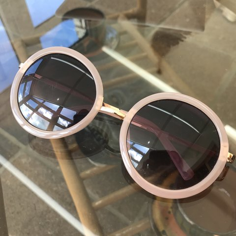 8dcf6ed637 Urban Outfitters pink round sunglasses 👌🏼 bought for £12   - Depop
