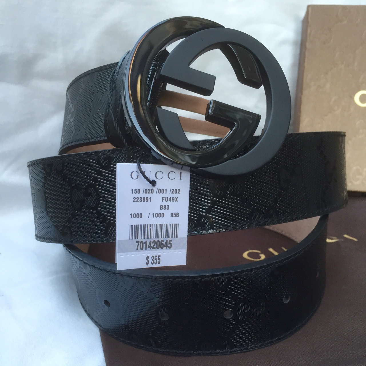 cd523b625 Authentic new mens Gucci Imprime belt. 90cm... - Depop