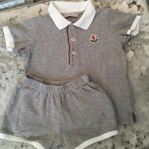 409840648863 Baby boys Moncler short set Size 12-18months Like new as a - Depop