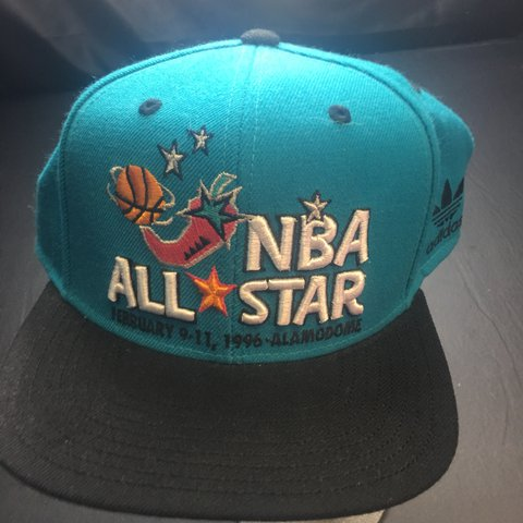 b7a0bf95533 Vintage Adidas 1996 NBA All Star Game Snapback Hat. In with - Depop