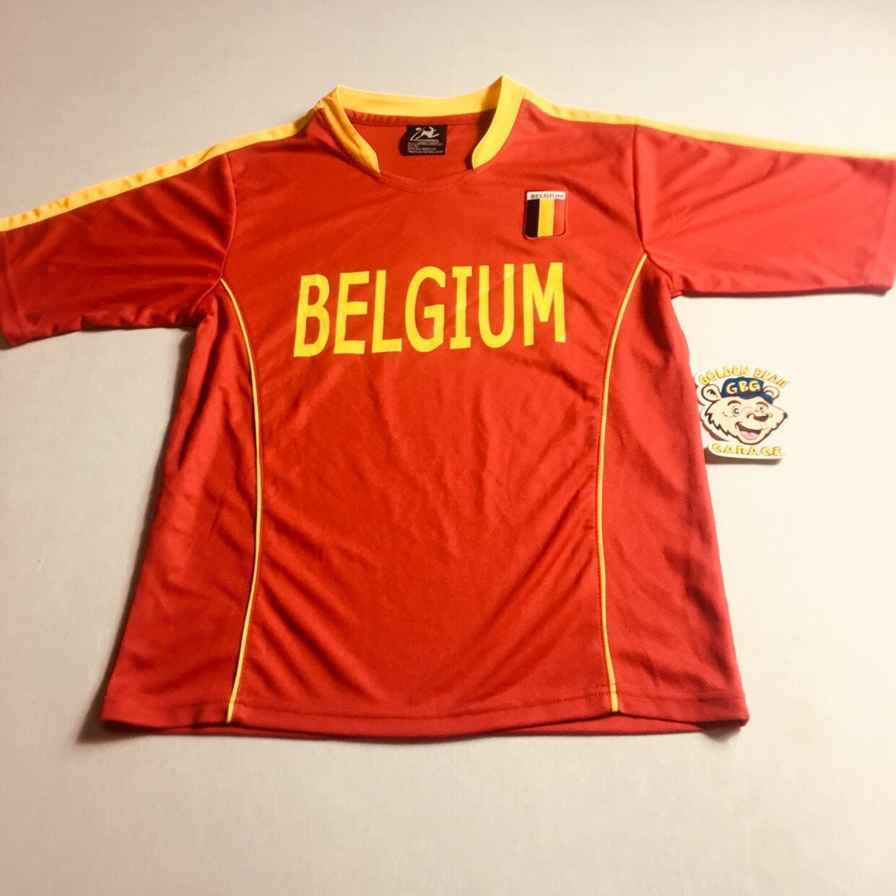 62b8a56f7 Vintage Mens Small Belgium Soccer Jersey. This jersey is in - Depop