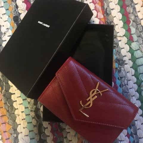 755148c40bf4a REDUCED- YSL Saint Laurent small compact wallet brand new - Depop