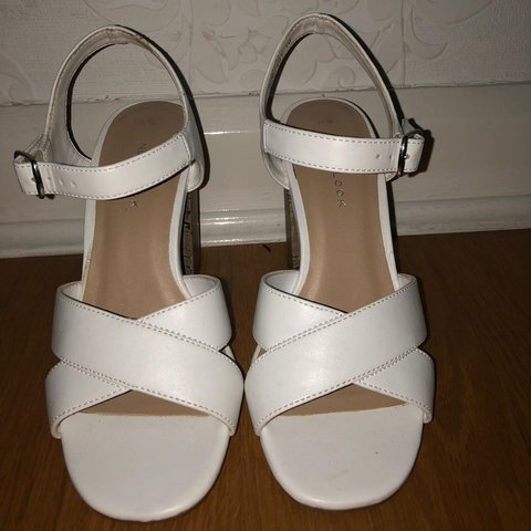 c2a3d82750 @nilax. 8 months ago. London, United Kingdom. New look size 3 white sandal  block heels. Perfect condition!