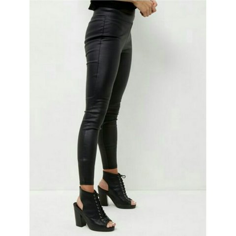 20998b8992c906 @catrionacatriona. 3 years ago. London, United Kingdom. New look black high  waisted leather look leggings never worn ...