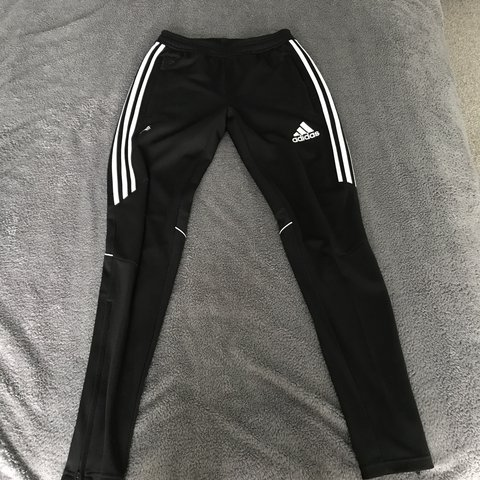 1329c911046b Black Adidas climacool track suit bottoms. Worn once. - Depop