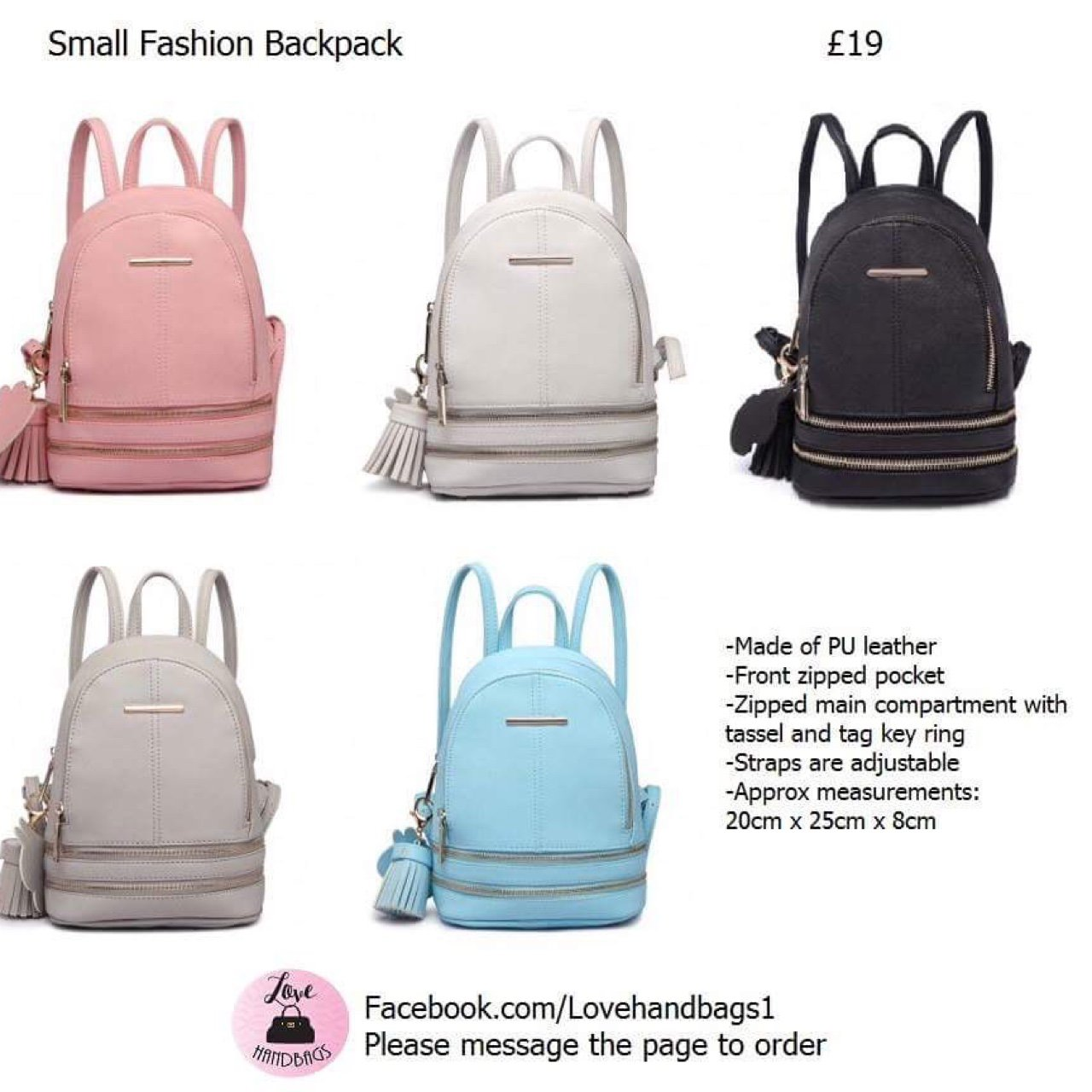 149b6f1dbd4c New colours available!! Small fashion backpacks £19 plus or - Depop