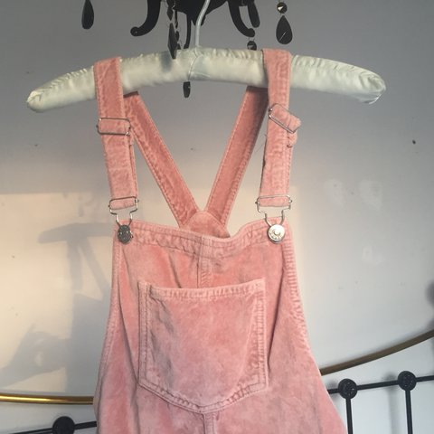 227090d300 Topshop Moto baby pink velvet pinafore 👅🌷 Cutest thing but - Depop